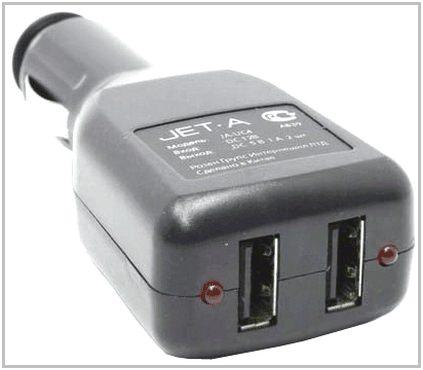 Автомобильное зарядное устройство для TeXet TB-710HD Jet.A JA-UC4