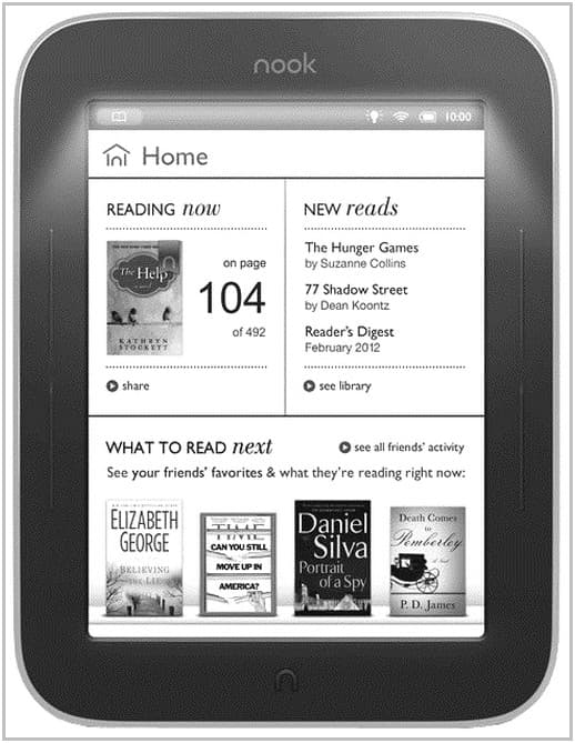 Электронная книга Barnes&Noble Nook Simple Touch with GlowLight