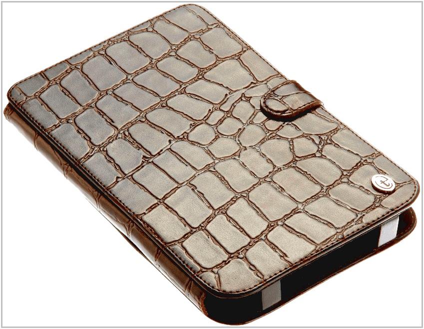 Чехол-обложка для PocketBook Pro 903 Time крокодиловая кожа
