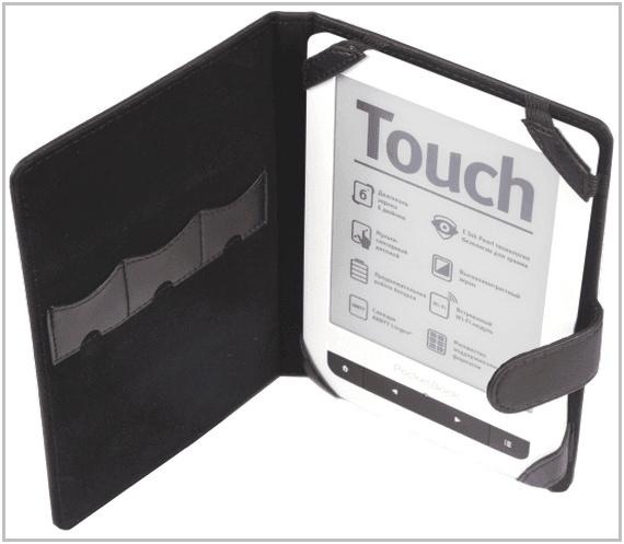 Чехол-обложка для PocketBook Touch 622 кожаный