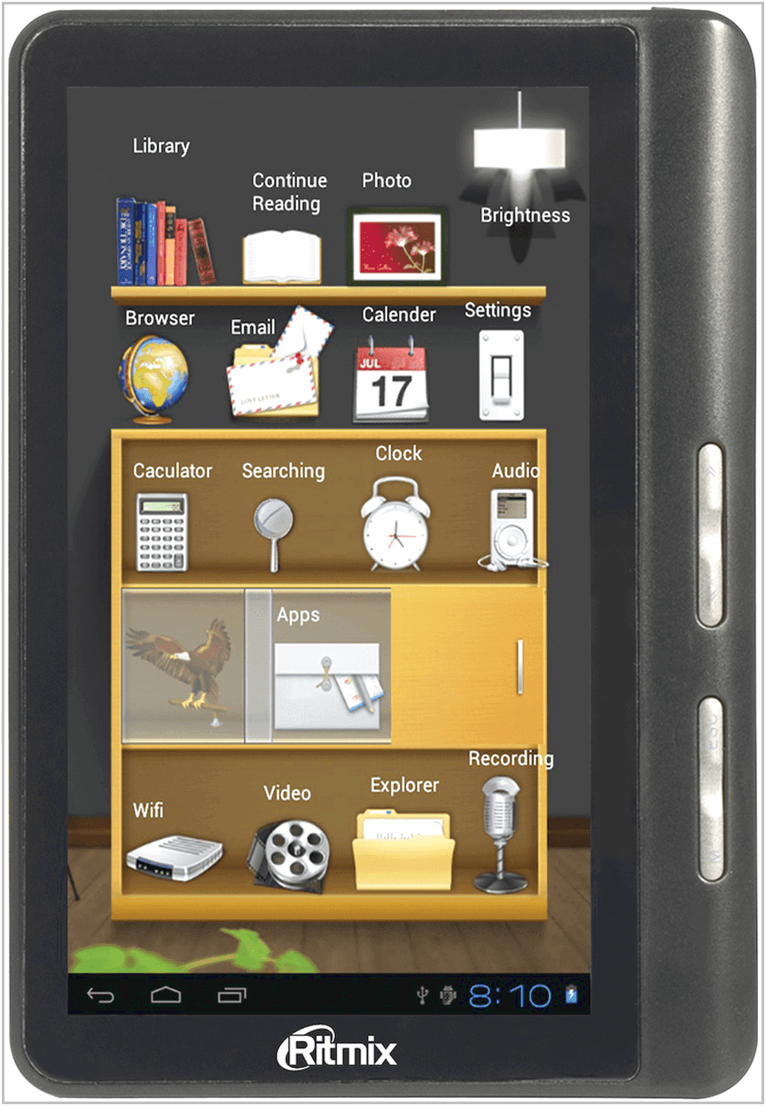 Электронная книга Ritmix RBK-496