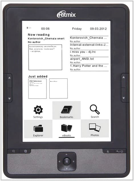 Электронная книга Ritmix RBK-610