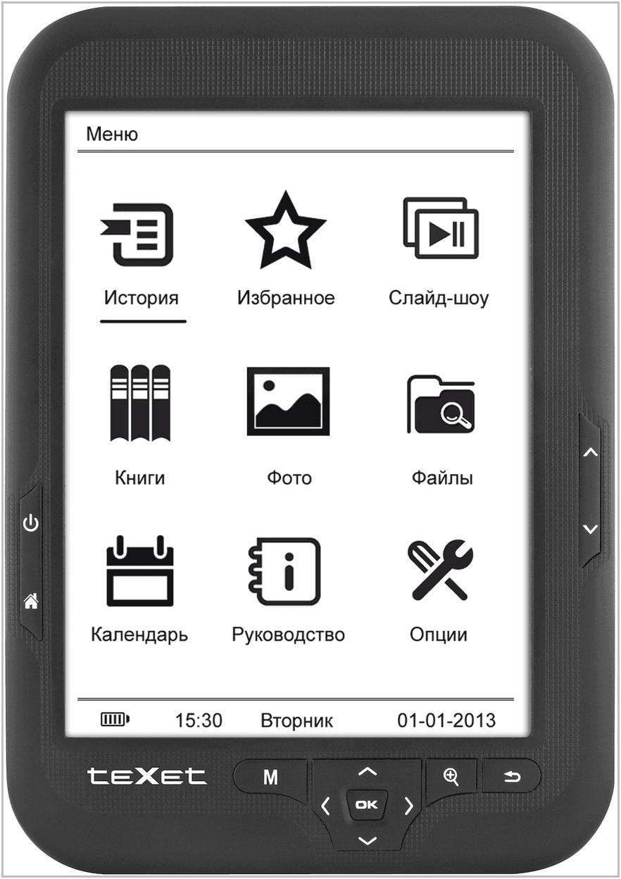 Электронная книга TeXet TB-416