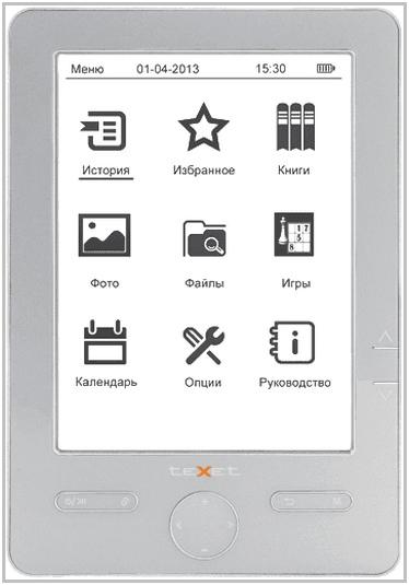 Электронная книга TeXet TB-504