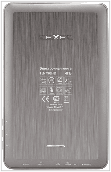 TeXet TB-780HD