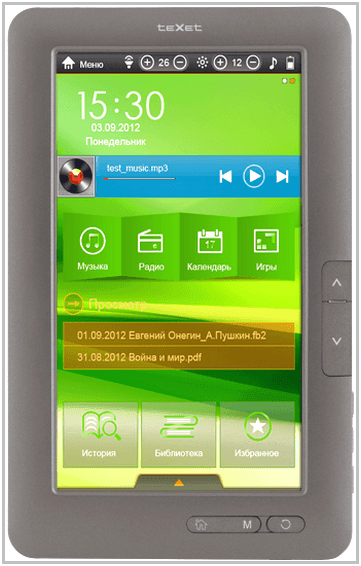 Электронная книга TeXet TB-780HD