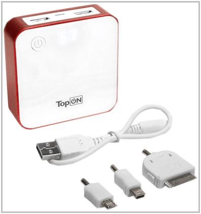 Зарядное устройство c аккумулятором для PocketBook 613 Basic TopON TOP-QUAD