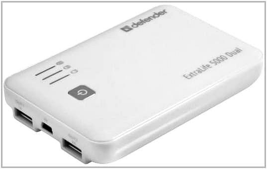 Зарядное устройство c аккумулятором для PocketBook A 7 Defender ExtraLife 5000 Dual
