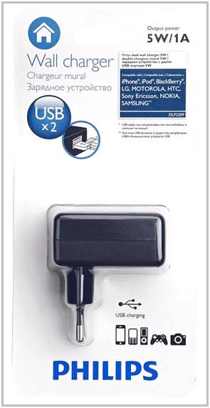 Зарядное устройство для PocketBook Touch 622 Philips DLP2209/12